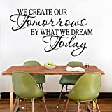 PeiTrade We Create Our Bedroom Background Wall Sticker Art Decal Home Room Decor Office Wall Mural Wallpaper Art Sticker Decal Paper Mural for Home Bedroom