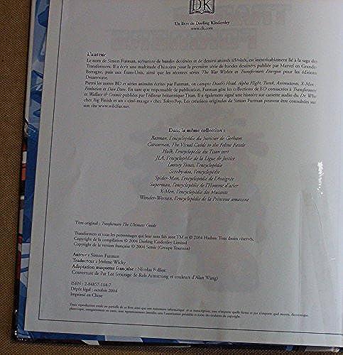 [Livre IDW/Semic] L'encyclopédie Transformers de Simon Furman en Francais 5190ErUq9bL._UL500_