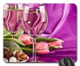 tulips, chocolate & wine Mouse Pad, Mousepad (Flowers Mouse Pad)