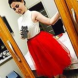 SCFL Falda de tut¨² de mujer Midi Tulle faldas 7 capas de falda enagua con cintur¨n el¨¢stico...