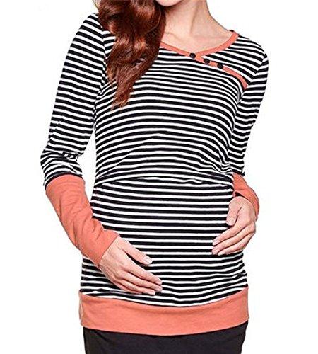 Hippolo Stillen Mutterschaft Schwangere Frauen Pflege Tops Hoodies Warm Jumper Pullover Frauen Freizeitkleidung (XL) (Frauen Freizeitkleidung)