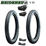 6 teiliges Reifen SET - 2x Heidenau Reifen K30 46J - (2 3/4 x 16 oder 2,75-16) + 2x Schläuche + 2x Felgenbänder
