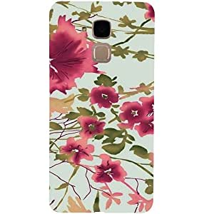 Casotec Flower Design 3D Hard Back Case Cover for Huawei Honor 5c