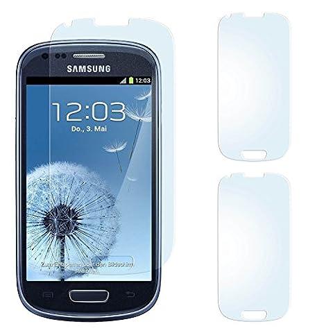 2x Samsung Galaxy S3 Mini Schutzfolie Matt Display Schutz [Anti-Reflex] Screen protector Fingerprint Handy-Folie matte Displayschutz-Folie für Samsung Galaxy S3 Mini S III Displayfolie - Bildschirm gewölbt, Folie bewusst (Galaxy S3 Display Kaufen)