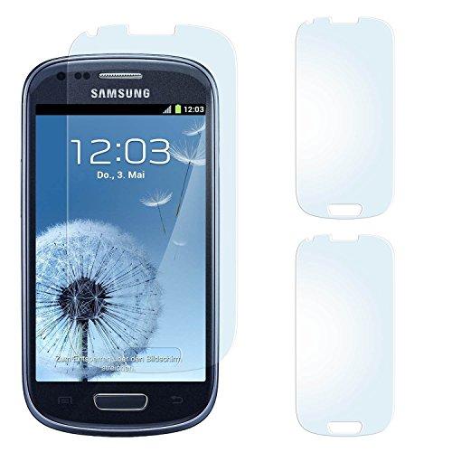 2x Samsung Galaxy S3 Mini Schutzfolie Matt Display Schutz [Anti-Reflex] Screen protector Fingerprint Handy-Folie matte Displayschutz-Folie für Samsung Galaxy S3 Mini S III Displayfolie - Bildschirm gewölbt, Folie bewusst kleiner