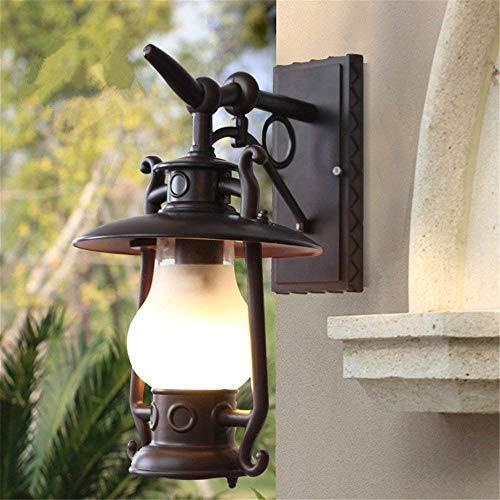 Ceakep E27 Creative-Schmiedeeisen-Metallwasserdichte Leuchten, Außenwandleuchte Retro Vintage-Wand-Leuchter, an der Wand befestigter Beleuchtung Dekoration -