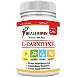 [Sponsored]Healthawin Research L-Carnitine Amino Acid For Muscle, Heart & Brain, Natural Fat Burner 1000 MG Serve
