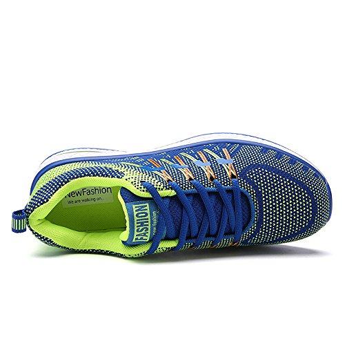 Santiro Unisexe Femmes Hommes Chaussures de Course Sports Fitness Gym athlétique Baskets Sneakers. Bleu Marine