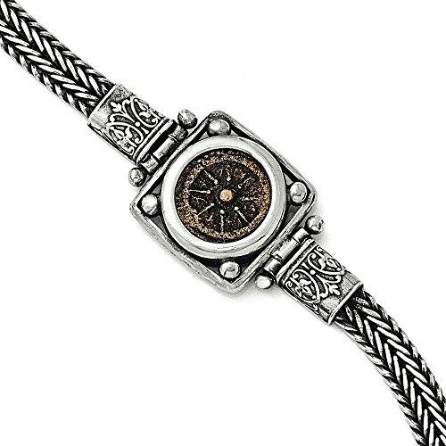en-argent-sterling-et-bronze-en-piece-veuves-anti-acariens-bracelet-femme-18-cm