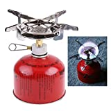 #10: NF&E Picnic Camping Butane Gas Stove BBQ Burner Cookware Outdoor Portable \ U0026 Pouch
