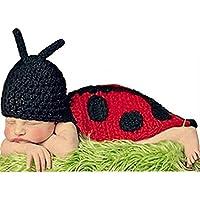 AKAAYUKO Bebé Recién Nacido Hecho A Mano Crochet Foto Fotografía Prop (Mariquita)