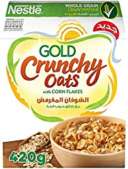 Nestle Gold Breakfast Cereal Crunchy Oats with Corn Flakes 420g