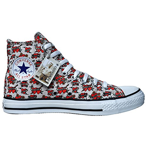 Converse All Star Chucks EU 39,5 UK 6,5 Limited Edition Sailor Jerry Tattoo Herz 105780