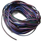 Foxnovo Ligne de câble Extension durable 20M 4 broches RVB pour bande LED lampe de lecture liseuse RGB5050 /RGB3528