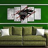 BOYH Game of Thrones Eiswolf-Abzeichen 5 Stück Drucke auf Leinwand Wall Art HD Home Decor Dekoration Poster,B,30×50×2+30×70×2+30×80×1