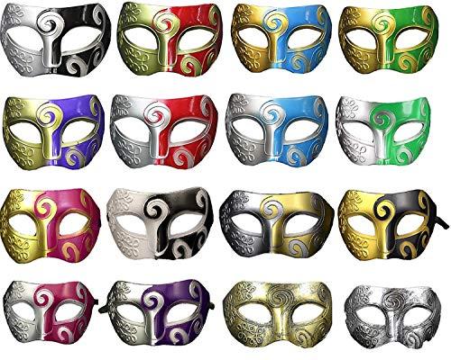 NFACE Unisex Retro Maskerade Maske Karneval Kostüm Party Zubehör (Packung mit 16)