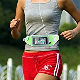Aeoss Sports Running Jogging Gym waistband Case with extra pocket , breathable fabric , Fits all Mobiles such as iphone 4 5 5s 6 , 6 plus (Green)