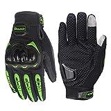 ZWYY Volle Finger Handschuhe, Unisex Mountain Bike Fahrradhandschuhe Touch Screen Off-Road/Dirt Bike Handschuhe Road Racing Motorcycle Anti-Slip Handschuhe,Green,XL