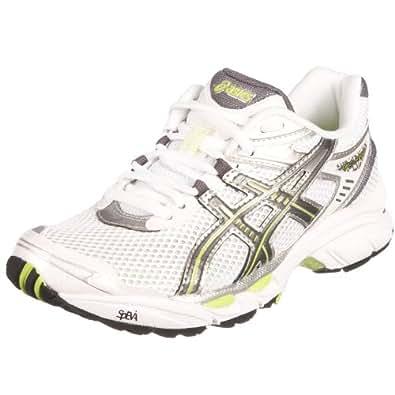 Asics Women's Gel Virage 4 Running Shoe White/Charcoal/Lime T074N0179 5 UK