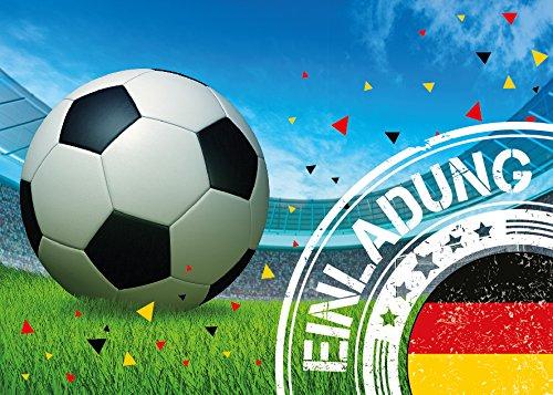 12 Einladungskarten Kindergeburtstag Jungen Fussball Geburtstag Jungs Geburtstagseinladungen Einladungen Geburtstagsparty Kartenset