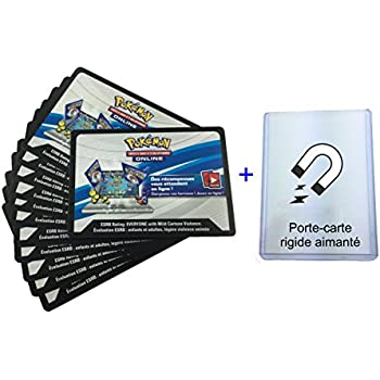Carte Pokemon Lot De Cartes à Code Online Avec Portecarte - Porte carte rigide