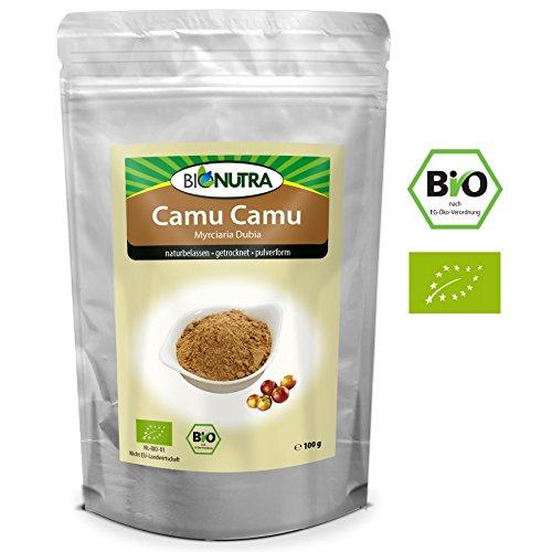 BioNutra Camu Camu Pulver Bio 100 g, Pulver der Camu-Camu-Frucht aus kontrolliert biologischem Anbau.