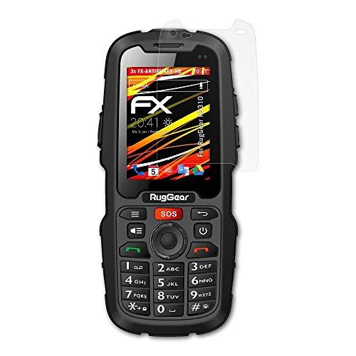 atFolix Schutzfolie kompatibel mit RugGear RG310 Bildschirmschutzfolie, HD-Entspiegelung FX Folie (3X)