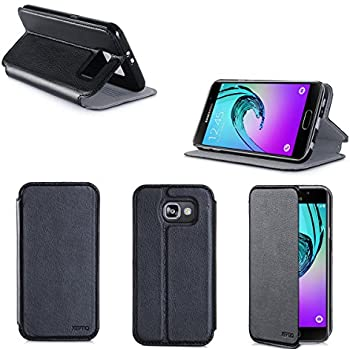 XEPTIO Etui Samsung Galaxy A5 2016 Noir Ultra Slim Cuir Style avec Stand: Amazon.fr: High-tech