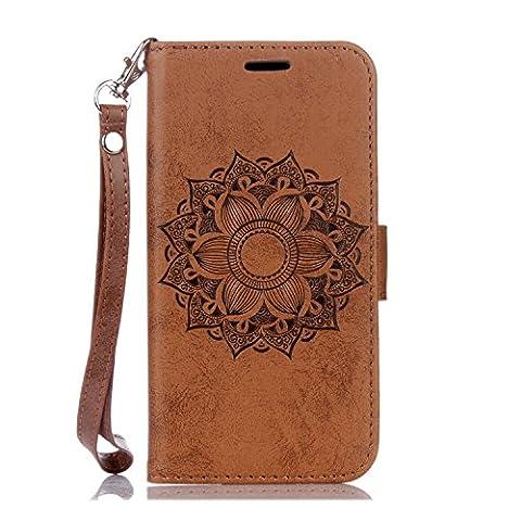 BONROY® Coque pour Samsung Galaxy S6 Edge,Housse en cuir pour