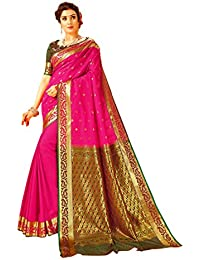 Craftsvilla Art Silk with Blouse Piece Saree (MCRAF58324497060_Pink_Free)