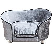 PawHut D04-016 Luxus Hunde/Katzensofa Haustier Schlafplatz inklusiv Kissen, grau