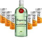 Gin Tonic Set - Tanqueray Rangpur Lime Destilled Gin 70cl (41,3% Vol) + 6x 1724 Tonic Water 200ml Dosen inkl. Pfand -[Enthält Sulfite]
