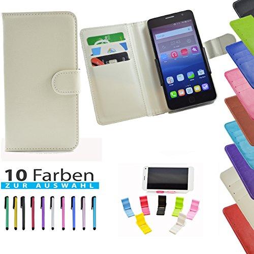 5 in 1 set ikracase Slide Hülle für Haier Voyage V5 Tasche Case Cover Schutzhülle Smartphone Etui in Weiß 5.5