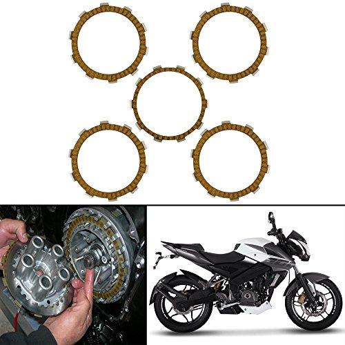 Autofy Highly Durable Aluminium Clutch plates/Clutch Disc For Bajaj Pulsar-200/UG-4 (Set of 5)