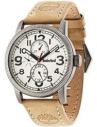 Timberland 14812JSU/07 - Reloj para caballero analógico con pantalla beige y correa de piel color beige (mecanismo de cuarzo).