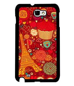 printtech Paris Chocolate Gift Back Case Cover for Samsung Galaxy Note 2::Samsung Galaxy Note 2 N7100