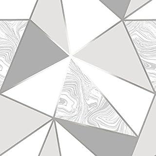 I Love Wallpaper Zara Marble Metallic Wallpaper Soft Grey, Silver (ILW980108)