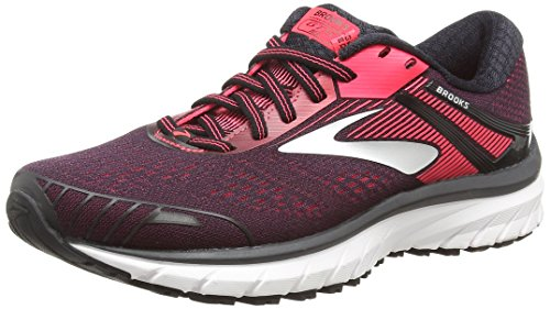 Brooks Adrenaline GTS 18, Scarpe da Running Donna, Black/Pink 058, 38.5 EU