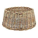 Zierkorb - Korb für Weihnachtsbaumständer oder Christbaumständer | Schöner Tree Basket im Shabby Chic/Landhaus Stil (Klassik L (Ø×H: ca. 60×26 cm))