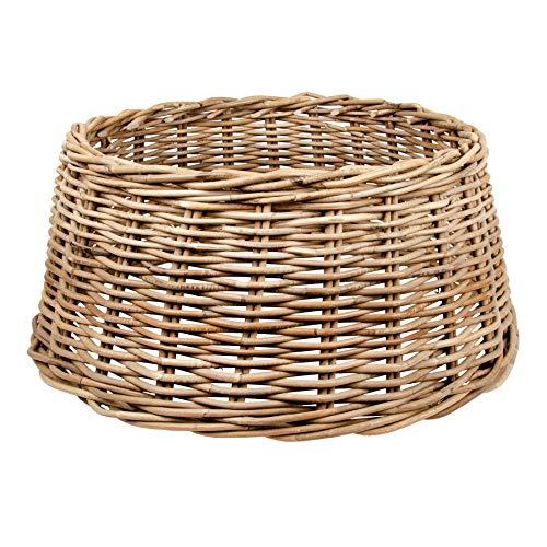 Zierkorb - Korb für Weihnachtsbaumständer oder Christbaumständer Schöner Tree Basket im Shabby Chic/Landhaus Stil (Klassik L (Ø×H: ca. 60×26 cm))