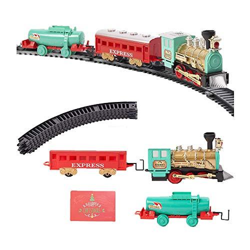 Set di trenino elettrico natalizio da 11 pezzi: suoni e luci realistici, decorazioni natalizie e intrattenimento