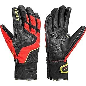 Leki Race Slide S Junior Handschuhe (schwarz/rot)