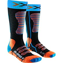 X-Socks Niños Esquí Junior calcetín, invierno, infantil, color Turquoise/Orange, tamaño 27W x 30L
