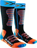 X-Socks Kinder SKI JUNIOR Strumpf, Turquoise/Orange, 31/34