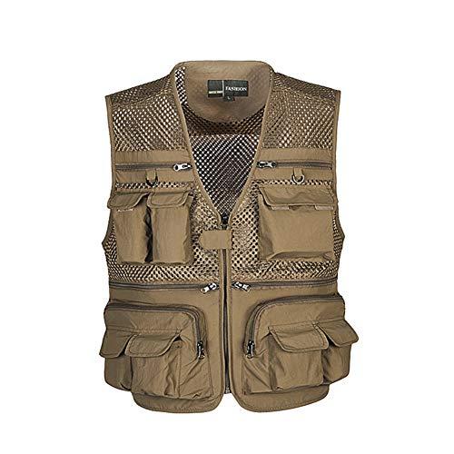 PanDaDa Fishing Vest Women Men Nylon Mesh Breathable Quick Dry Multi Waterproof Pocket Jacket Outdoor Sports Climbing Photography Vest