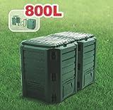 Prosperplast Composteur 80 x 20 x 60 cm vert