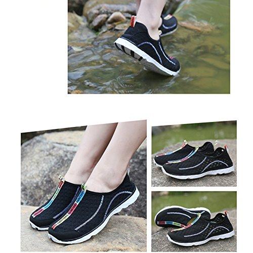 SAGUARO® Hommes Chaussure d'eau Mesh Respirante Slip-On Séchage Rapide Aqua Eau Chaussures Noir
