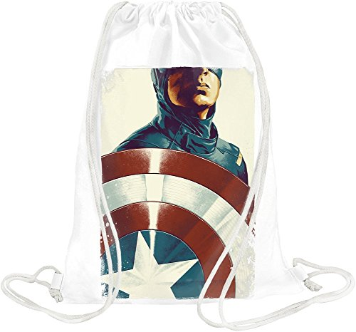 Captain America With Shield Kordelzugbeutel - Shield Drip
