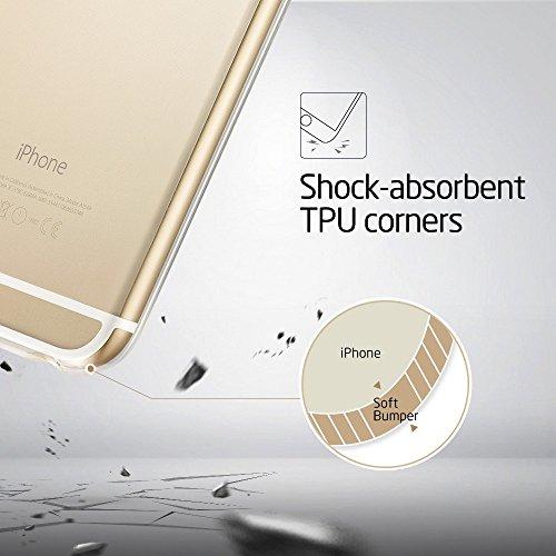 iPhone 6S Plus / 6 Plus Hülle (5,5 Zoll), ESR® Weiche TPU Rahmen mit Hart PC Zurück Schutzhülle für iPhone 6 Plus/6s Plus (Klar) Klar
