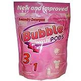 Bubble Washpods HE High Efficiency Laundry Detergent Soap (Rose) - 30 Loads (Pouch)